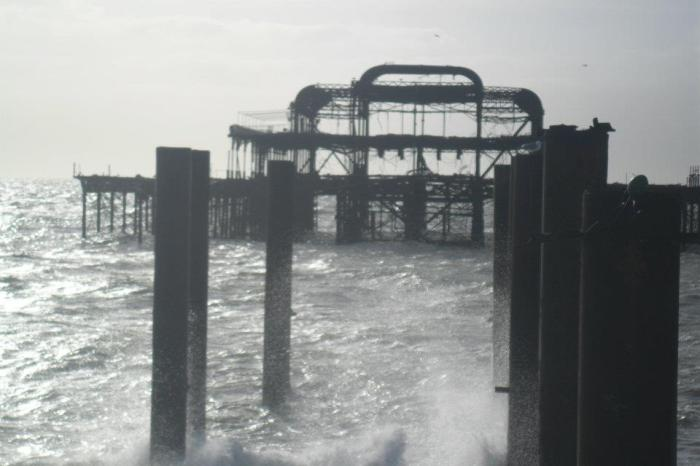 Burnt Down Sea Pavillion, Brighton, January 2012
