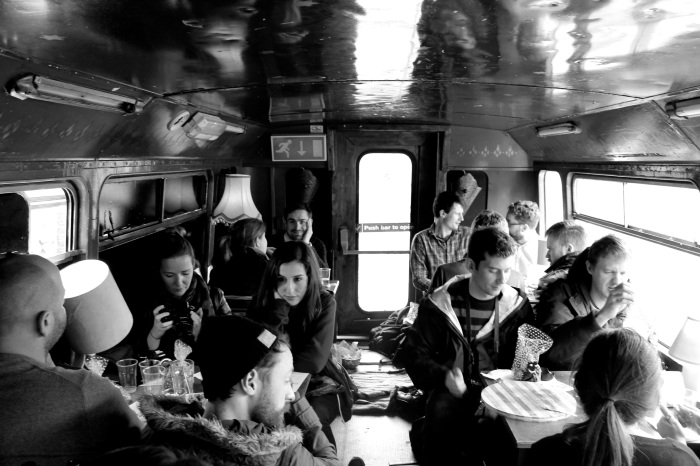 Photographers in The Big Blue Bus, The Bernard Shaw